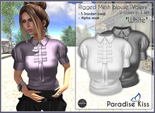 {Paradise Kiss} Valery blouse-White set (Rigged Mesh)