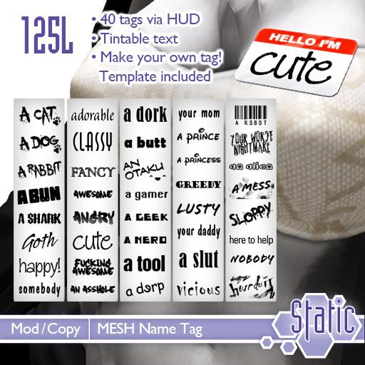 ::Static:: Name Tag