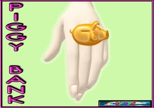 %..:ChimHair:..% Piggy Bank Ring Orange Mesh