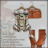 "!Soul~ Nanny""3 Mesh->Corset/Lolas Tango/Skirt /Boots- Chevron!"