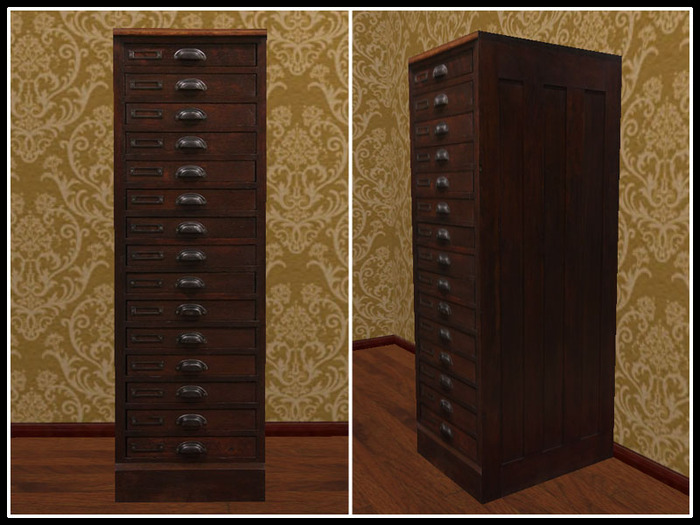 Old Wood Legal File Cabinet