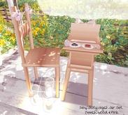 Candii Kitten - Simplicity Highchair Pink & Light Wood