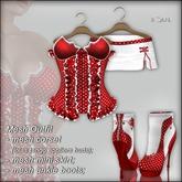 "!Soul~ Nanny"" Mesh->Corset/Lolas Tango/Skirt /Boots- Sweet Red!"