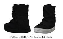 Tabloid . REBOUND boots . Jet Black