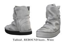 Tabloid . REBOUND boots . White