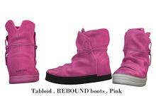 Tabloid . REBOUND boots . Pink