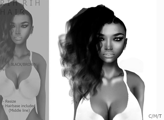 DEMO R I H  R I H hair [Black/Brown] - By Naomie Dirval
