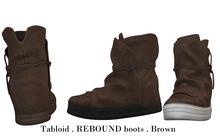 Tabloid . REBOUND boots . Brown
