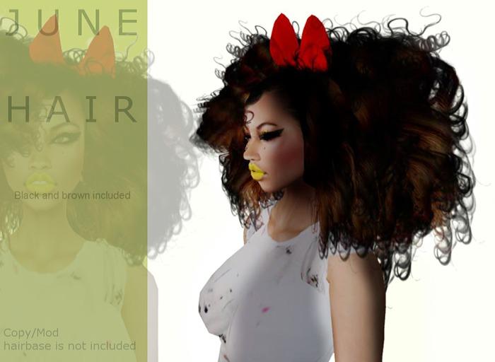J U N E hair Black&brown included- By Naomie Dirval