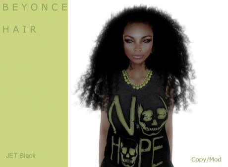 B E Y O N C E  hair Jet Black - By Naomie Dirval