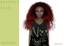 B E Y O N C E hair black/Red Tipped- By Naomie Dirval