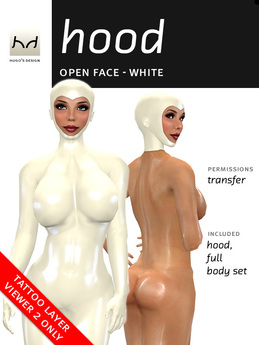 *HD* Open-Face Latex Hood - White (for Viewer 2.0 Only)