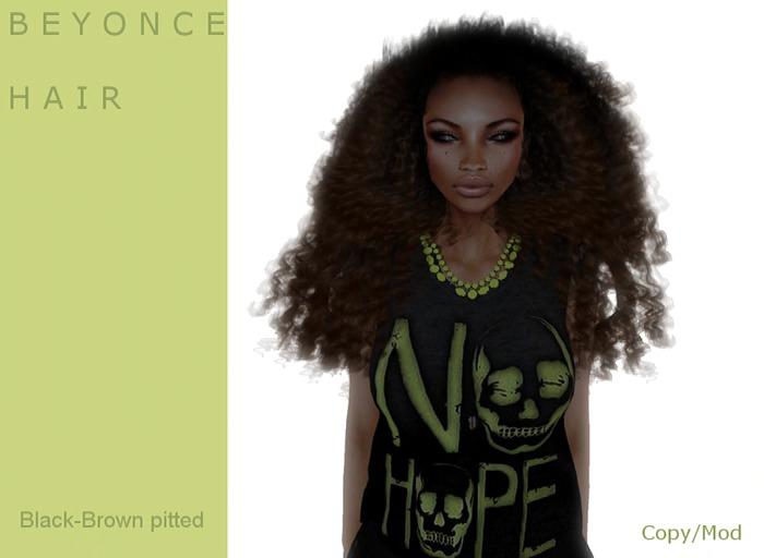 B E Y O N C E  hair black/Brown Tipped- By Naomie Dirval