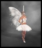 ♡ Tinker Bell Fairy Angel Costume ♡ Lovely White Wings, Dress, Shirt, Tattoos & Pumps. Enjoy :)