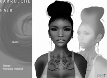 DEMO K A R R U E C H E  Updo/Bun [jet blacl] by Naomie Dirval
