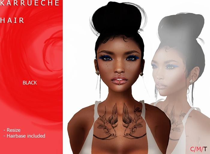 K A R R U E C H E  Updo/Bun [jet black] by Naomie Dirval