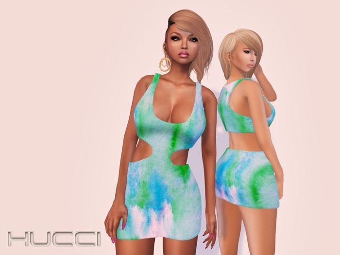 ::HH:: Hucci Decatur Dress - Green Ink