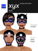 Hoods & Masquerade Mask Collection - Black Latex Hoods & Mask with Blue Trim (Viewer 2.0 Only) - Hugo's Design