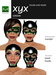Hoods & Masquerade Mask Collection - Black Latex Hoods & Mask with Green Trim (Viewer 2.0 Only) - Hugo's Design