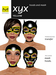 Hoods & Masquerade Mask Collection - Black Latex Hoods & Mask with Yellow Trim (Viewer 2.0 Only) - Hugo's Design