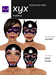 Hoods & Masquerade Mask Collection - Black Latex Hoods & Mask with Purple Trim (Viewer 2.0 Only) - Hugo's Design