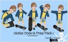 {C*K} BOYS Toddleedoo Skateboard Poses & Prop