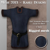 {KD} Kahli Designs - Mesh Peasant Tunic - Blue