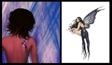 @ ! Bliss Designs ~ Tattoo ~ Gothic Fairy Tattoo ~  Back of the Shoulder  ~ Universal Harmony, Peace, Balance & Love