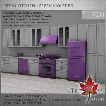 Trompe Loeil - Retro Kitchen Teal PG [mesh]