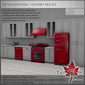 Trompe Loeil - Retro Kitchen Cherry Red PG [mesh]