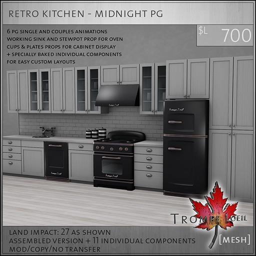 Trompe Loeil - Retro Kitchen Midnight PG [mesh]