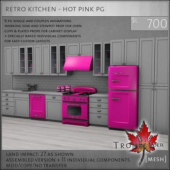 Trompe Loeil - Retro Kitchen Hot Pink PG [mesh]