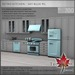 Trompe Loeil - Retro Kitchen Sky Blue PG [mesh]