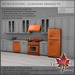 Trompe Loeil - Retro Kitchen Sunshine Orange PG [mesh]