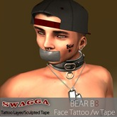 [SWaGGa] Bear B8 (Bait) Face Tattoo with Tape