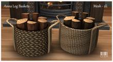 LISP - Mesh - Anna Log Baskets - Set of 2