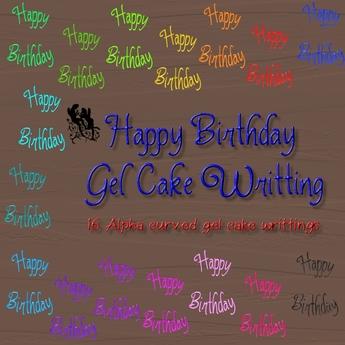 Phenomenal Second Life Marketplace Fud Happy Birthday Gel Cake Writing Personalised Birthday Cards Fashionlily Jamesorg
