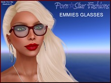 Porn*Star Fashions Emmies RED Horn Rimmed Glasses
