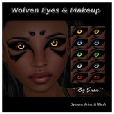 ~*By Snow*~ Wolven Eyes & Makeup