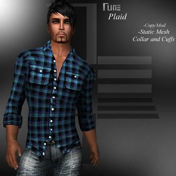 DE Designs - Rune - Plaid Shirt - Blue