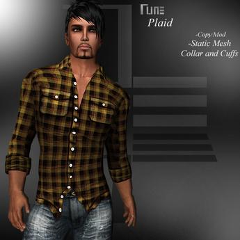 DE Designs - Rune - Plaid Shirt - Black and Tan