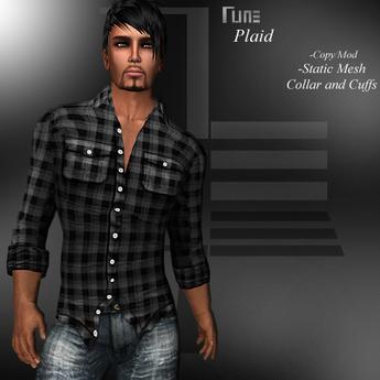 DE Designs - Rune - Plaid Shirt - Black