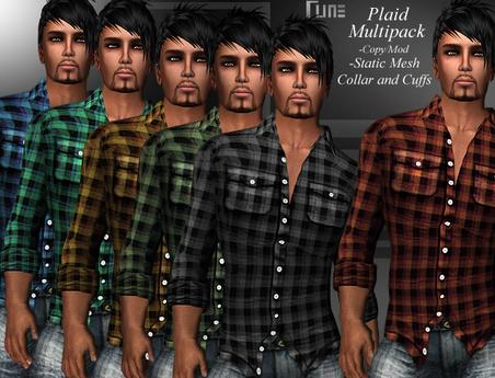 DE Designs - Rune - Plaid Shirt - Multipack
