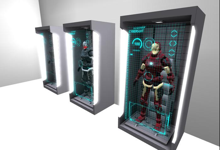 Hall of iron man [Armor display]