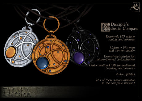 .Eldritch. Celestial Compass Pendant (Disciple)