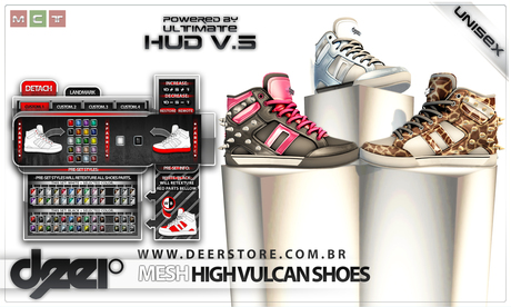 * .:: deeR ::. * MESH higher vulcan shoes [Multi-Texture] BOXED