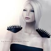 -Glam Affair- Spiked Shoulder Pads in Black