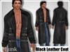 [Phunk] Mesh Men's Black Leather Coat