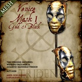 Venice Mask I [Gold,Black]