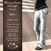 *X*plosion X*Cross Female Pants Straight (White)